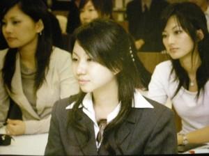 20131009TBSアナウンス部岡田アナウンサー就職講演 参加学生
